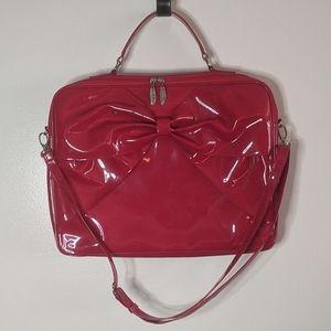 Lux De Ville Candy Apple Red Bow Laptop Bag RARE